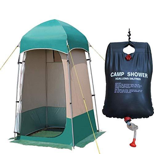 Carpa baño, Pop Up individual Ducha Tiendas de campaña, camping al aire libre Ducha de privacidad for Cambio de Pesca Vestir de baño Trastero tiendas de campaña portátil con bolsa de transporte