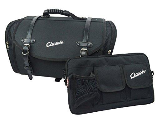Taschenset SIP Classic, Nylon, schwarz, inkl. Tasche für Gepäckfach und Tasche/Koffer groß für Gepäckträger