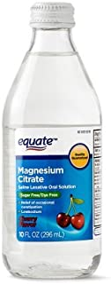 Equate - Magnesium Citrate Oral Solution, Saline Laxative, Cherry Flavor, 10 Fl Oz - Pack of 2