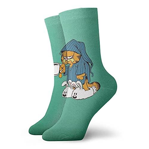 Garfield - Calcetines para hombre y mujer en cuatro estaciones, cómodos, transpirables, resistentes al desgaste, deportes, ocio y fitness
