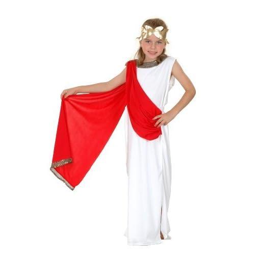 New Roman Greek Goddess. Childrenu0027s Fancy Dress Costume. Age 7 9 Years.