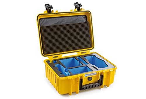 B&W Outdoor Case Hartschalenkoffer Typ 4000, Inlay für: DJI Mavic 2 Pro / Zoom, Controller, Fly More Kit und Zubehör (Hardcase Koffer IP67, wasserdicht, Innenmaß 38,5x26,5x16,5cm, Gelb)