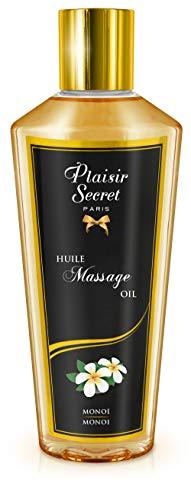Plaisirs Secrets Huile de Massage Sèche Sensuelle 100% Végétale Monoï 250 ml