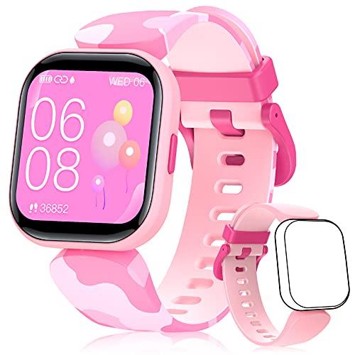 BILIFIT Reloj Inteligente Niña, 1.4' Smartwatch Niñas Impermeable IP68, Pulsera Actividad Niña con 19 Modos de Deporte, Pulsómetro, Monitor de Sueño, Podómetro, Regalo para Niñas
