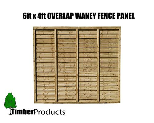 Total Sheds 6x4 (1.83m x 1.21m) 6ft x 4ft Waney Larch Overlap Fence Panels
