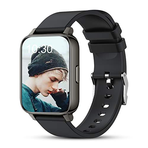"""AllCall Smart Watch Fitness Tracker for Men Women, 1.69"""" Full Touch Screen with Heart Rate Blood Oxygen Monitor, Sleep Tracker, Step Counter, Message Call Reminder, Smartwatch for Android Phones iOS"""