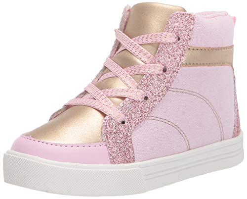 OshKosh B'Gosh - Zapatillas Altas para niñas y niños pequeños, Rosado, 11 MX Niñito