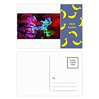 色のカルスト地形洞窟写真 バナナのポストカードセットサンクスカード郵送側20個