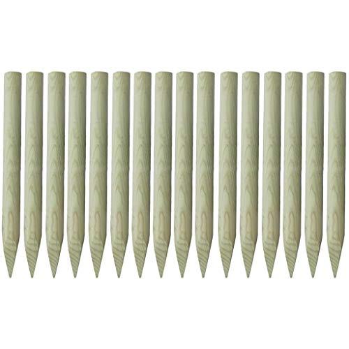 Tidyard Angespitzter Zaunpfahl 16 Stück Imprägniertes Holz Zaun-Pfahl für Ihren Staketenzaun/Bauernzaun/Kastanienzaun