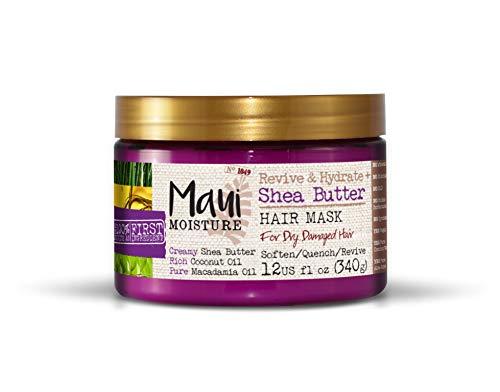 Maui Moisture Vegane Sheabutter Aloe Vera Tiefenspülung Maske für trockenes Haar 340 g