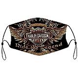 Best-design Máscara facial de Harley Davidson reutilizable, máscara de tela, pañuelo lavable, pasamontañas de protección contra el polvo, cubierta para la cara, bufanda para pesca y ciclismo