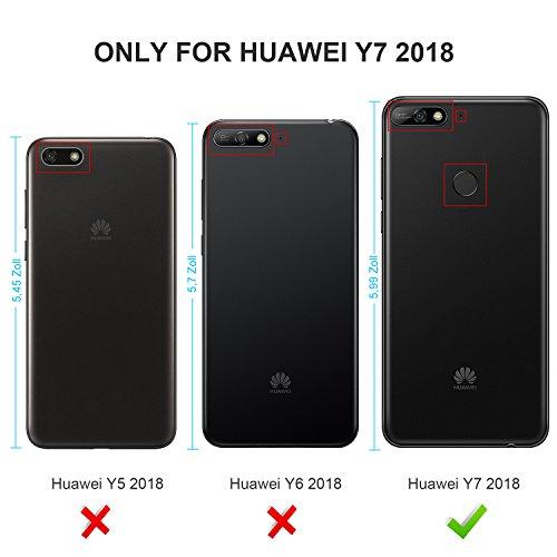 KuGi Huawei Y7 2018 Schutzfolie, 9H Panzerglas Hartglas Glas Display Schutzfolie [Blasenfrei] [HD Ultra] [Anti-Kratzer] Displayschutz Für Huawei Y7 2018 / Prime 2018 Smartphone. Klar [2 Pack] - 2