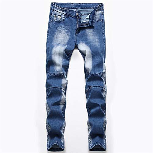 HenShiXin mannen rechte drie-kleuren stretchjeans mannelijke rechte broek gewassen dragen wit skinny