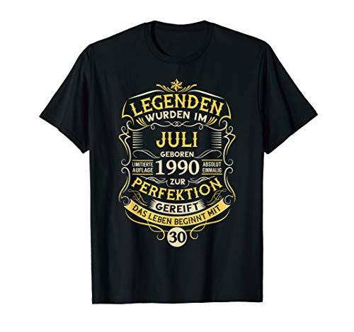 30. Geburtstag Mann Frau 30 Jahre Juli 1990 Spruch Geschenk T-Shirt