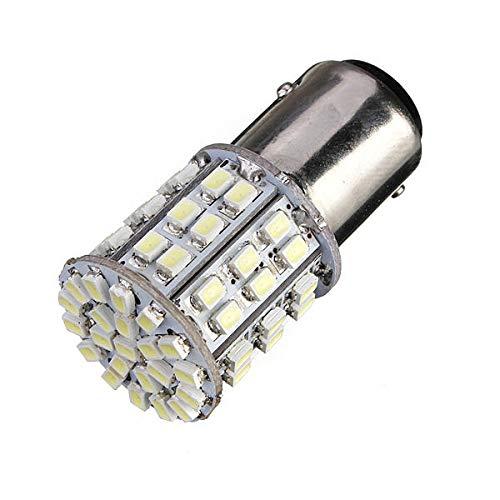 Weilaijaiju BAY15D 1157 Lámpara de luz de Freno de Tope de Cola de Coche Blanco 64 SMD Bombilla LED