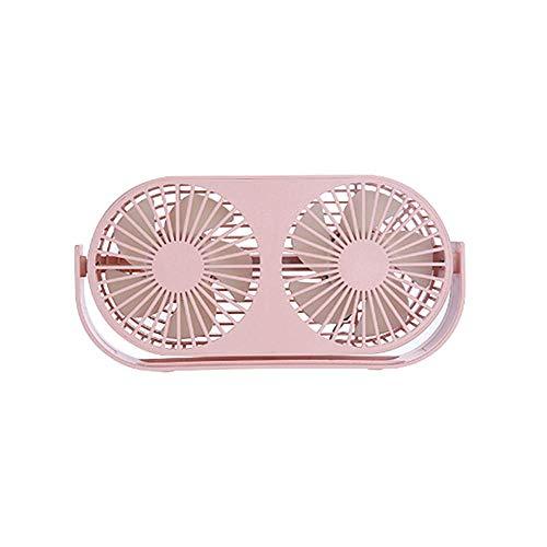 Local Makes A Comeback Mini-ventilator met drie vleugels, verstelbaar, aromatherapie-ventilator, voor op het bureau thuis of op kantoor, roze