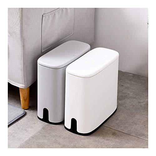 Automatische vuilnisbak Home 11L Automatische vuilnisbak Badkamer Afvalbak Wastafel Rubbish Mand Vuilnisbak Emmer Houder Opslag Container Doos Grijs Wit, Grijs Huishoudelijke decoratieve opslag bucke