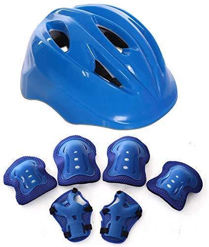 Iwinna 7pcs Kids Protective Gear Sets, Childs Kids Skate Helmet Knee Pads Wrist Guards for Skateboard Hoverboard Bike Scooter Rollerblading 3-8 Years Old Boys Girls
