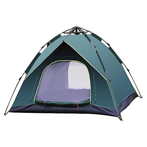 WJHNS Familienzelt Camping Zelt Folding Zelt Wasserdicht Tragbare Faltzelte Outdoor Schmutzfeste für Reisen Speed Open Instant Popup Zelt Strand Dusche 3-4 Leute Zelt 200x200x125CM