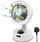 Elegant Life Air Circulator Fan Desk Cooling Fan Table Noiseless Fan, Turbo Fan, Three Fan Blades, 3 Speed Oscillating Electric Desk Home Office Fan, 75° Rotation, Powerful Airflow, Energy Saving