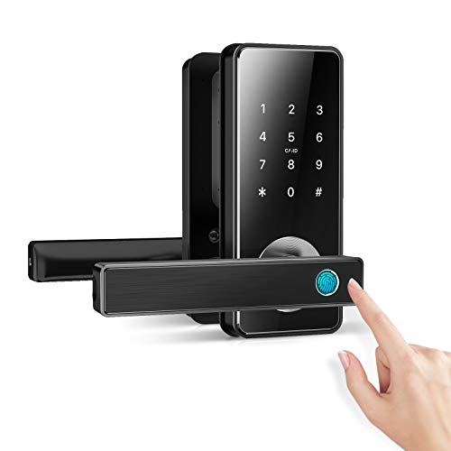 [2021 Update] Ruveno Fingerprint Door Lock, Smart Lever Door Lock, Keyless...