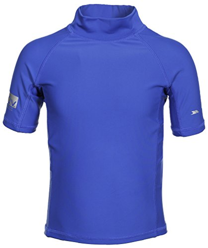 Trespass Swimming Camiseta, Niños, Azul, Talla 2/3