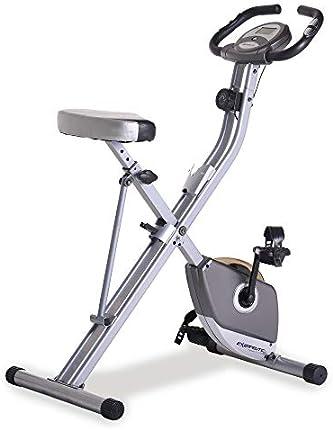 Bicicleta vertical plegable exotérmica con pulso