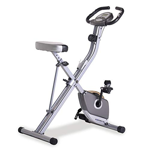 Exerpeutic Folding Magnetic Upright Exercise Bike with Pulse, 31.0' L x 19.0' W x 46.0' H...