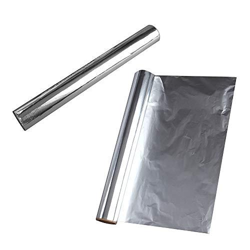 MOTZU 2 Rollen 5m*30cm Aluminium Foil Papier zum Grillen/Backen,BBQ Grillen Aluminium-Folien Aluminiumfolie,Hitzebeständige Folie Alufolie,Küche Folie Papier Wrapper,Schokolade Süßigkeiten Verpacung