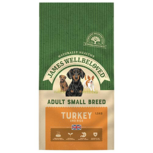 James Wellbeloved Complete Dry Adult Small Breed Dog Food Turkey and Rice, 1.5 kg