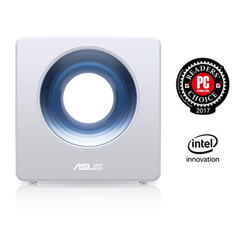 Asus Blue Cave Design Router (Ai Mesh WLAN-systeem, WiFi 5 AC2600, 4x Gigabit LAN, Alexa IFTTT en App Control, AiProtection, SmartHome, USB 3.0)
