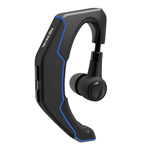 RUXUIN Bluetooth Headset Voice Control and Noise-canceling Microphone 180°rotatable Receiver Left/Right Ear Wearing Design Business/Sport Device V4.1 (Black)