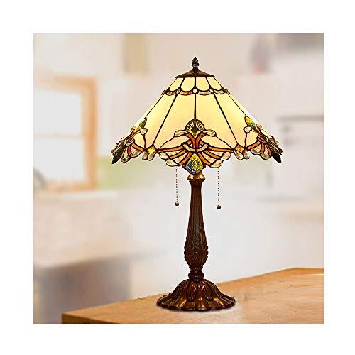 LYDQ Lámpara de Sobremesa de Estilo Tiffany 17.3 Pulgadas Lámpara de Mesa...