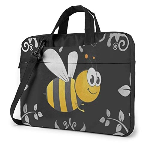 Bumble Bee Laptop Bag 15.6 Inch Laptop Sleeve Case with Shoulder Straps & Handle/Notebook Computer Case Briefcase Compatible with MacBook/Acer/Asus/Hp