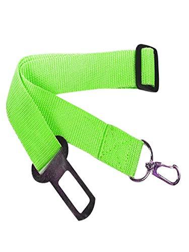 TUDUZ Universal Hunde und Katzen Sicherheitsgurt fürs Auto, Sicherheitsleine, 42-68 cm, passend für alle Hunderassen, Katzenerassen & Autotypen(43-71cm,X-Grün)