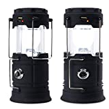 Solar Camping Light, USB Rechargeable Lantern Flashlight Outdoor Super Bright Recharge Portable Light
