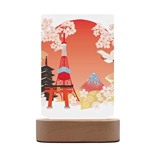 Pucture Frames Asia Japón Tokyo Tower Marco de fotos de acrílico Tablero de la mesa Fotos verticales Marcos de imagen grandes con base de madera Pantalla de mesa para la oficina en casa Galería 5.7x8
