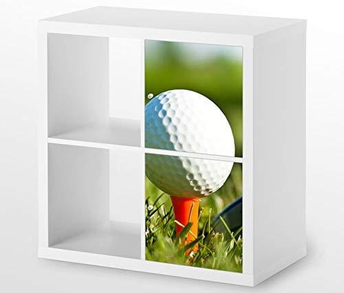 Möbelaufkleber Für Ikea Kallax 2x Türelemente Vertikal Ball Golf Sport Golfball Kat8 Abschlag Aufkleber Möbelfolie Tür Sticker Ohne Möbel 25g163