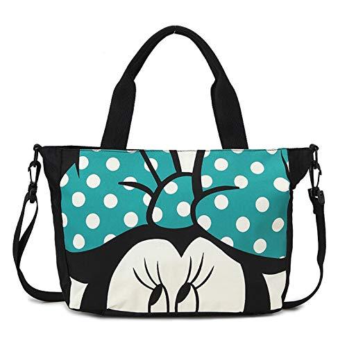 OCGDZ Disney Mickey mouse plush backpack bag cartoon lady canvas bag shoulder girl handbag women Bucket bag Drawstring High capacity (Color : 2, Height : 35cm)
