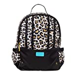 Posh Peanut Ruffled Backpack for Girls - Kinder Pre School Bag for Toddlers and Kids - Lana Leopard Tan
