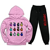 Conjunto de sudadera con capucha y pantalones deportivos para niños y niñas.