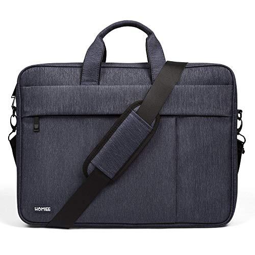 HOMIEE 13-14 Inch Laptop Bag with Shoulder Strap, Men Women Shoulder Messenger Bag Business Briefcases for MacBook Pro 13, MacBook Air 13, Dell XPS, Lenovo, HP, 3 Way Shockproof Computer Laptop Case
