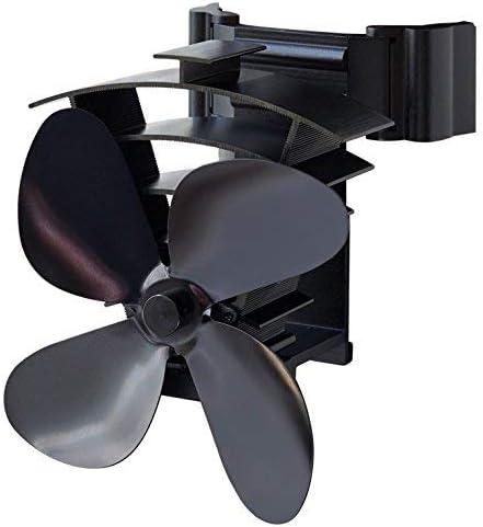 Ventilador silencioso del refrigerador de la estufa de la calefacci/ón Ventilador de calefacci/ón Ventilador de chimenea de 5 aspas para chimenea Ventilador de estufa de calor
