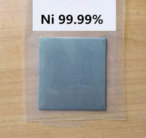 FidgetGear Pure Nickel Metal Thin Sheet Plate 1mm x 100mm x 100mm Electroplating Anode