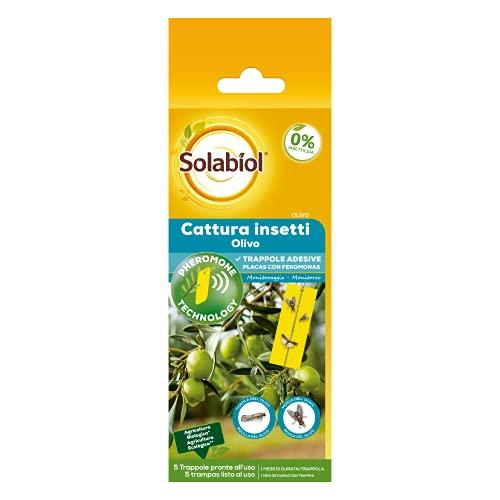 Scopri offerta per Solabiol Cattura Insetti con feromone per olivo, 5 trappole