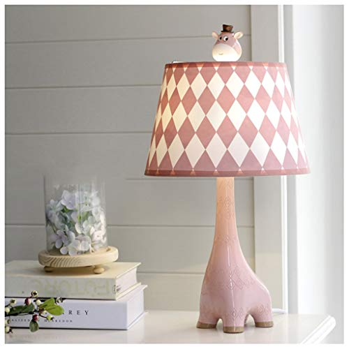 Lámpara de noche en el dormitorio de la jirafa - dibujos animados de la habitación infantil, ojo cálido creativo (Color : Pink-25cmX46cm)