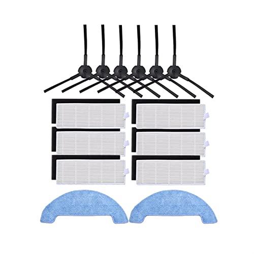 KCWASD Partes De Vacío Reemplazo del Filtro HEPA Cepillo Lateral del Filtro Primario Pad Pads Padres DE REEMPLAZO DE REEMPLAZO Fit For ILIFE A4 A4S Robot Cafila DE VACÍO Cubierta (Color : Blue)