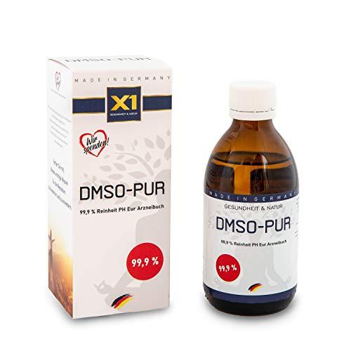 X1 DMSO-PUR   DMSO mit 99,9% pharmazeutischer Reinheit   Dymethylsulfoxid ph. EUR   250ml Braunglasmedizinflasche   Made in Germany