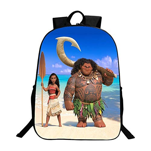 School Bag Teen Boy Girl 3D Printed Moana Children's Bag Student Leisure Backpack 16 Inches E