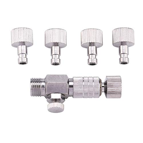 Air Brush Fitting, Airbrush Air Horse Disconnect Adapter Quick Connecter Accessoires met 4 stks 1/8'' Mannelijke en Vrouwelijke Fittings Onderdelen